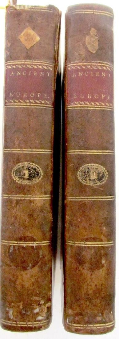 1801 2 VOLUMES HISTORY of ANCIENT EUROPE w/ VIEW OF