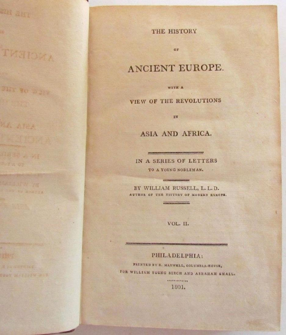 1801 2 VOLUMES HISTORY of ANCIENT EUROPE w/ VIEW OF - 3