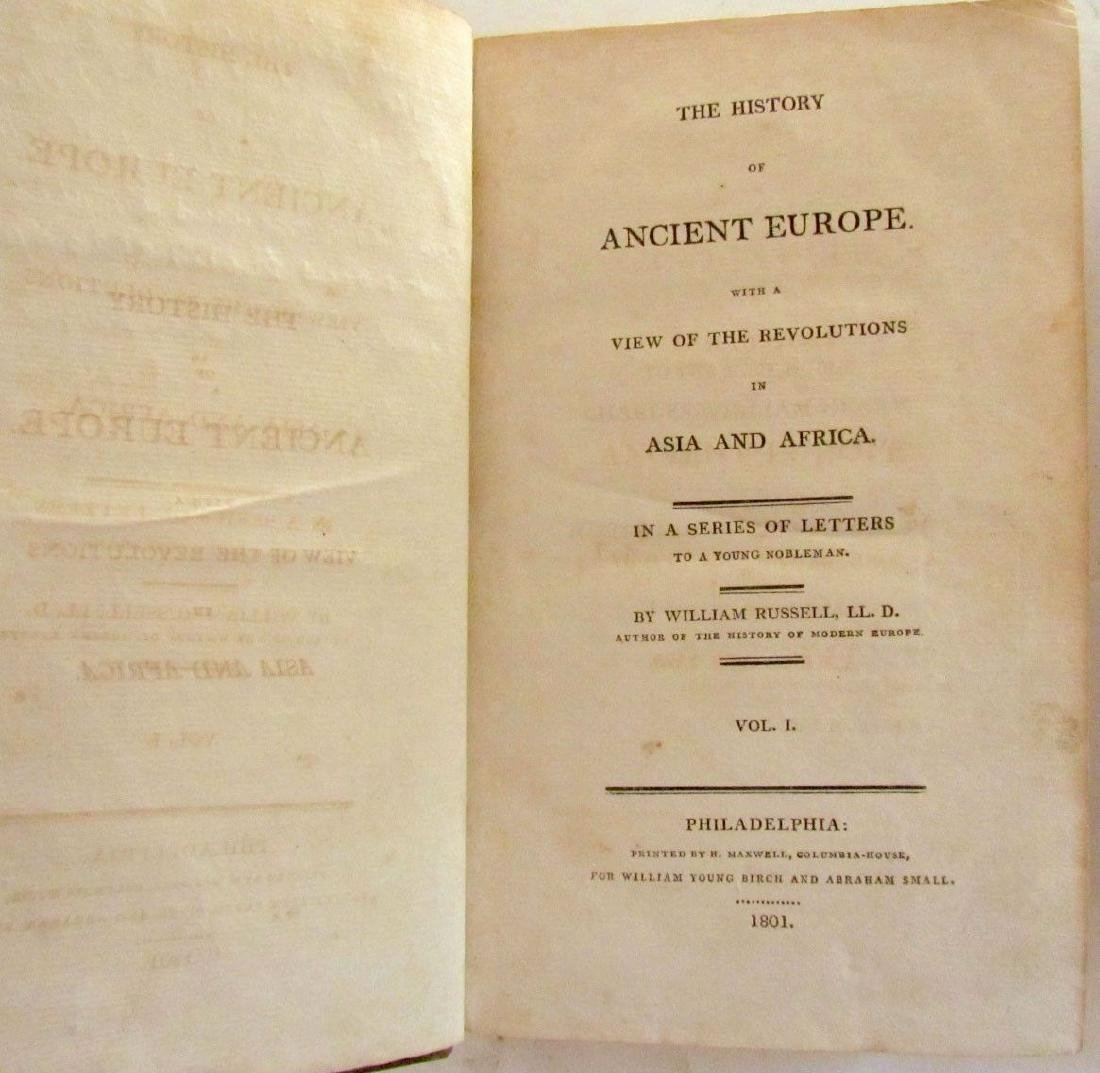 1801 2 VOLUMES HISTORY of ANCIENT EUROPE w/ VIEW OF - 4