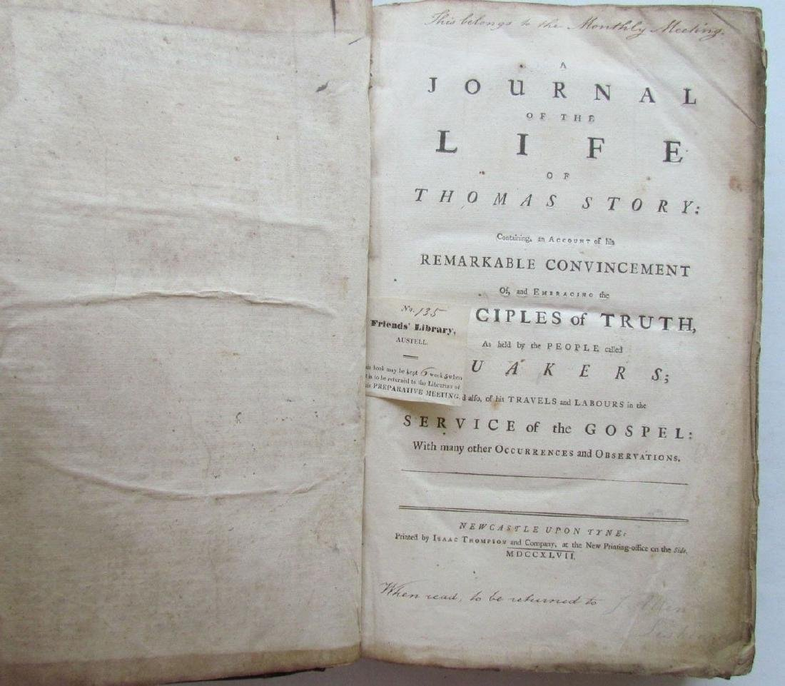 1747 QUAKERS HISTORY JOURNAL OF LIFE OF THOMAS STORY - 3