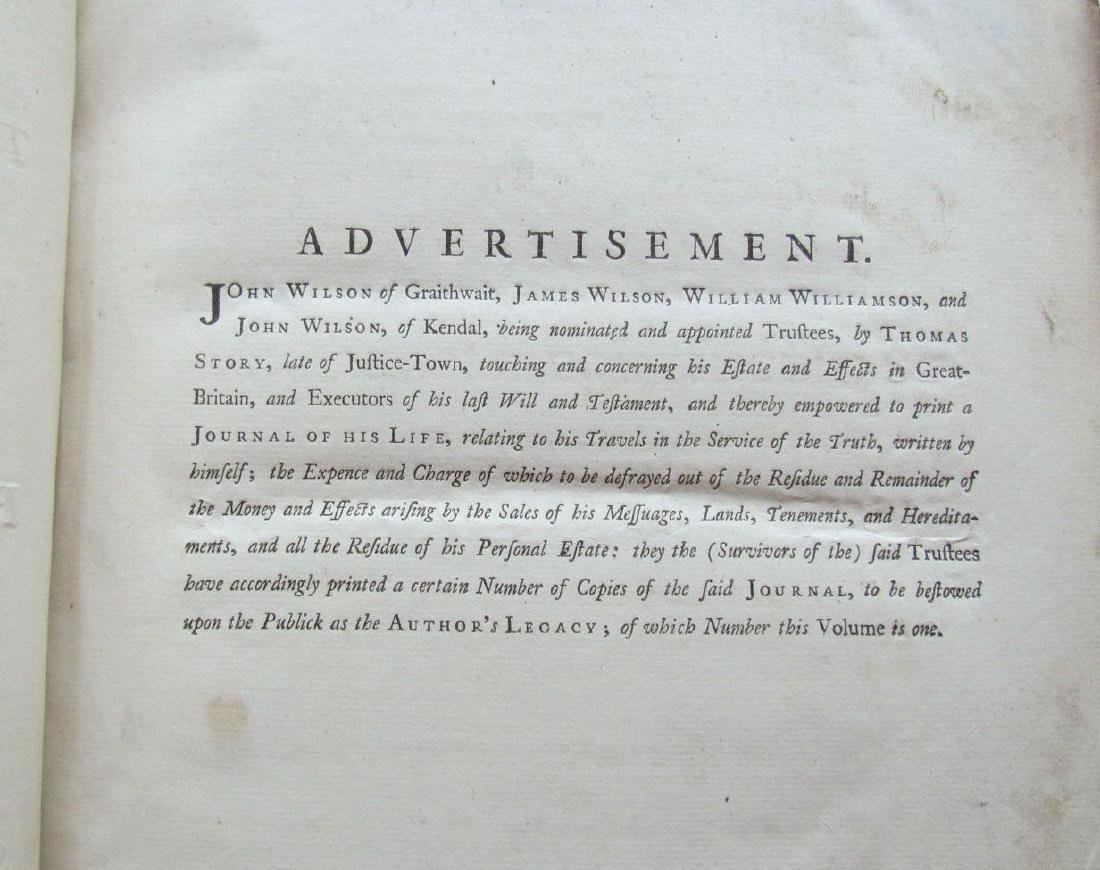 1747 QUAKERS HISTORY JOURNAL OF LIFE OF THOMAS STORY - 4