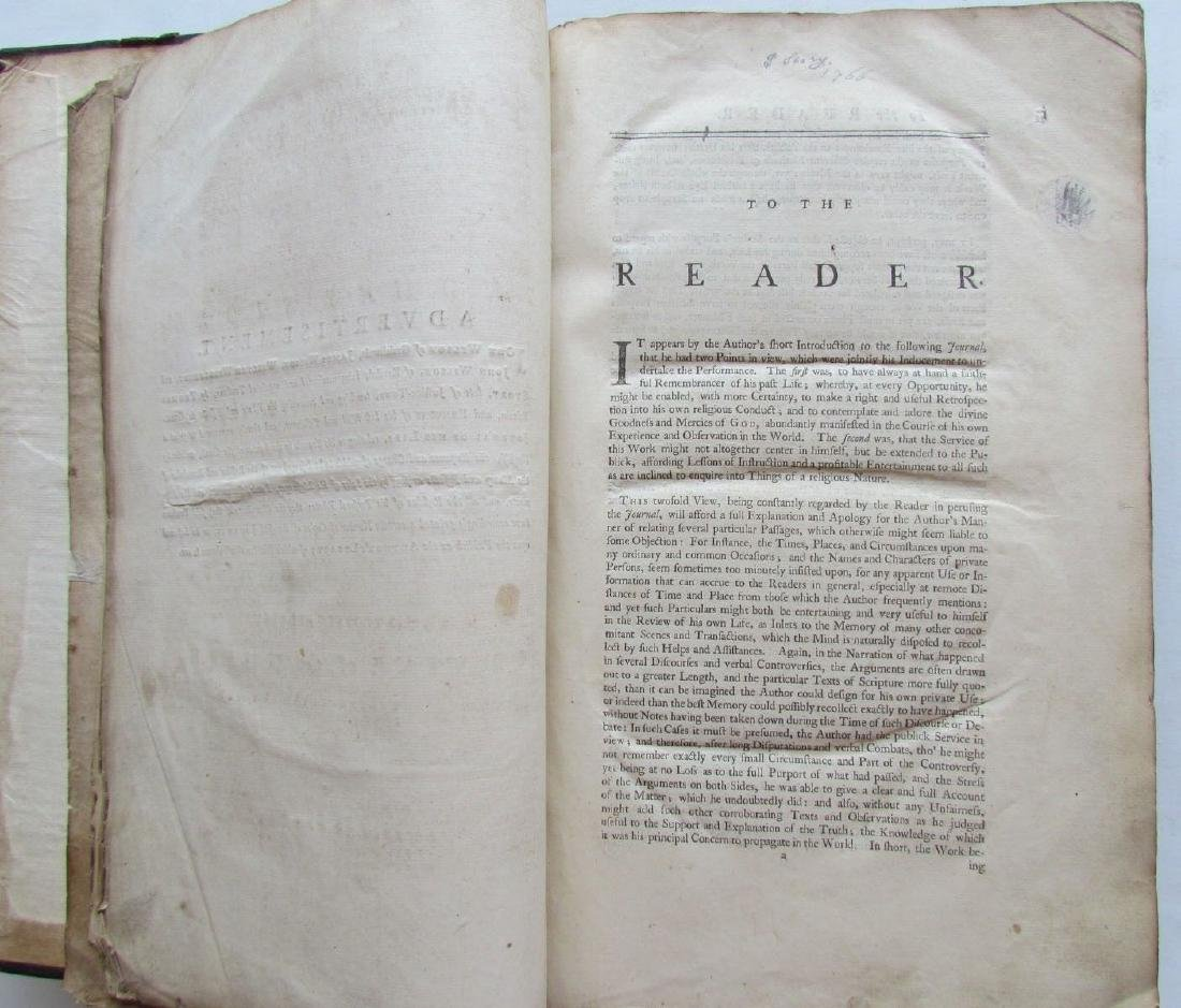 1747 QUAKERS HISTORY JOURNAL OF LIFE OF THOMAS STORY - 5