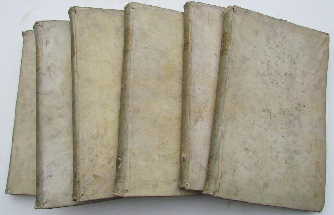 1757 6 VOLUMES SET ANTIQUE VELLUM BOUND FOLIOS by - 2
