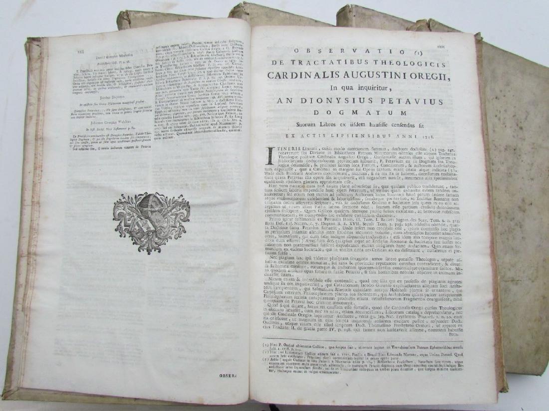 1757 6 VOLUMES SET ANTIQUE VELLUM BOUND FOLIOS by - 4