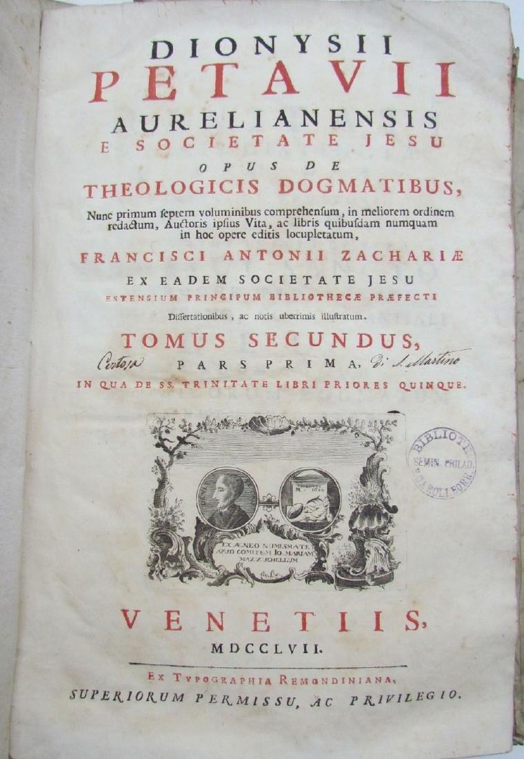 1757 6 VOLUMES SET ANTIQUE VELLUM BOUND FOLIOS by - 7