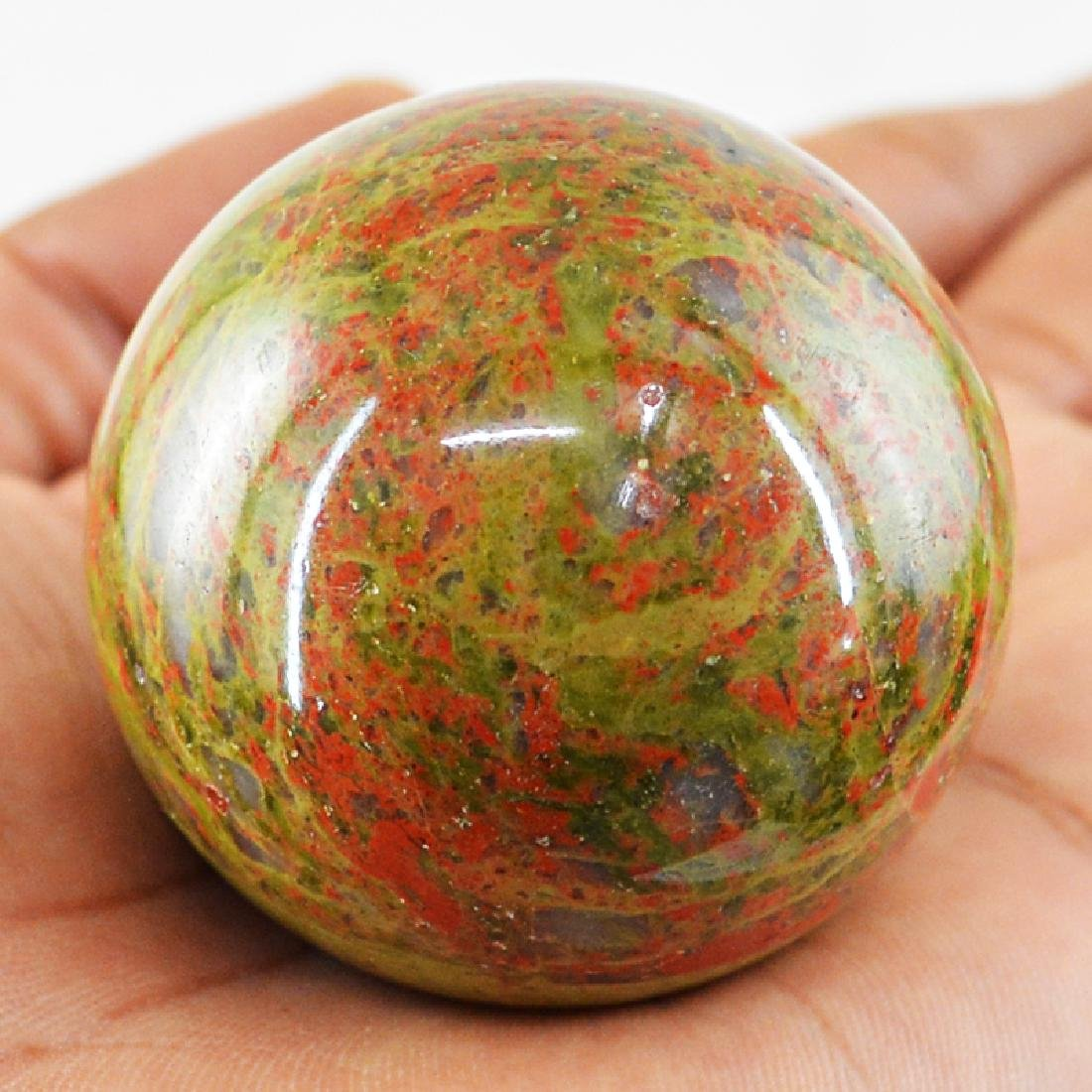 Blood Green Unakite Healing Ball