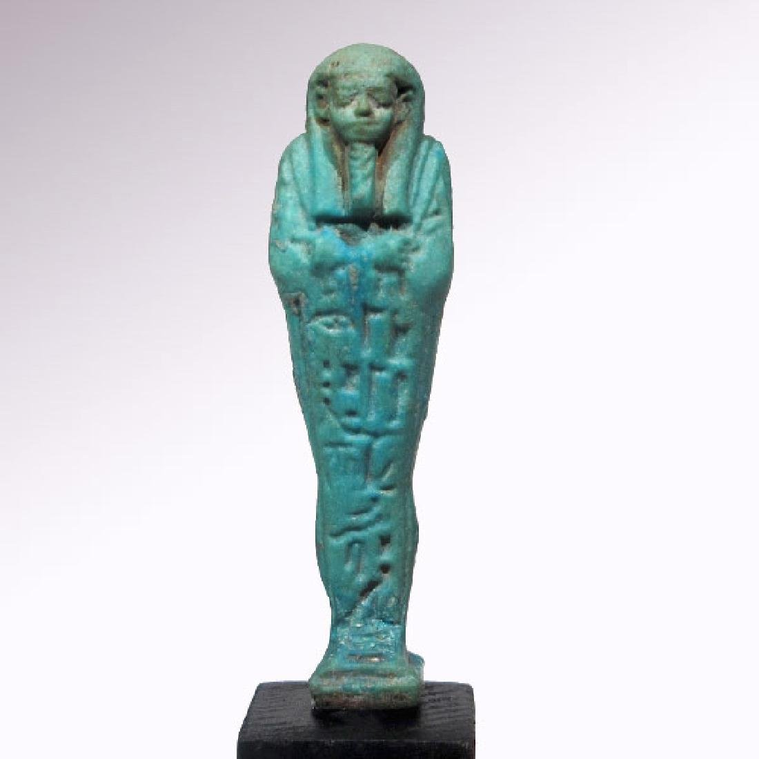 Egyptian Faience Shabti to Psametek, High Priest of