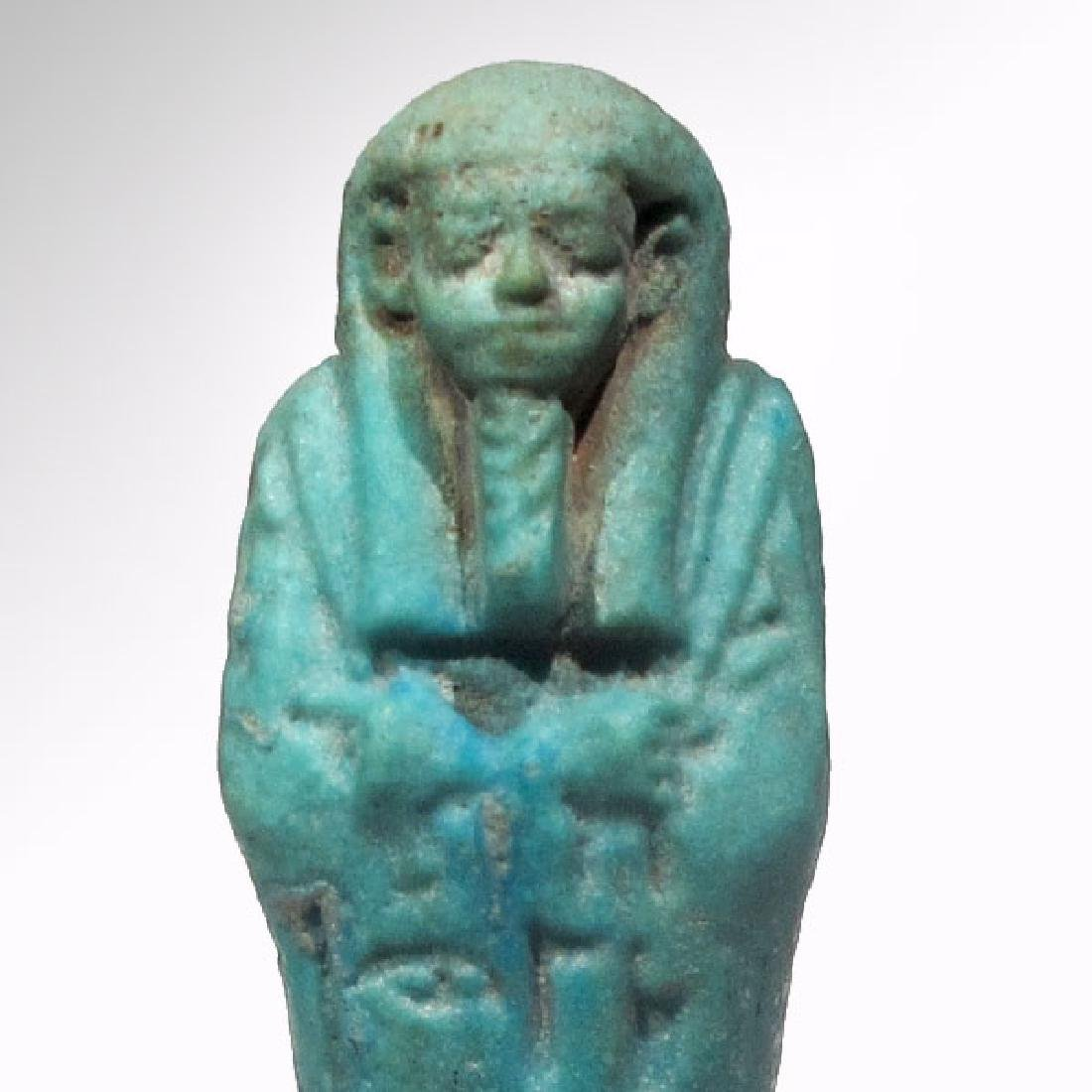 Egyptian Faience Shabti to Psametek, High Priest of - 2