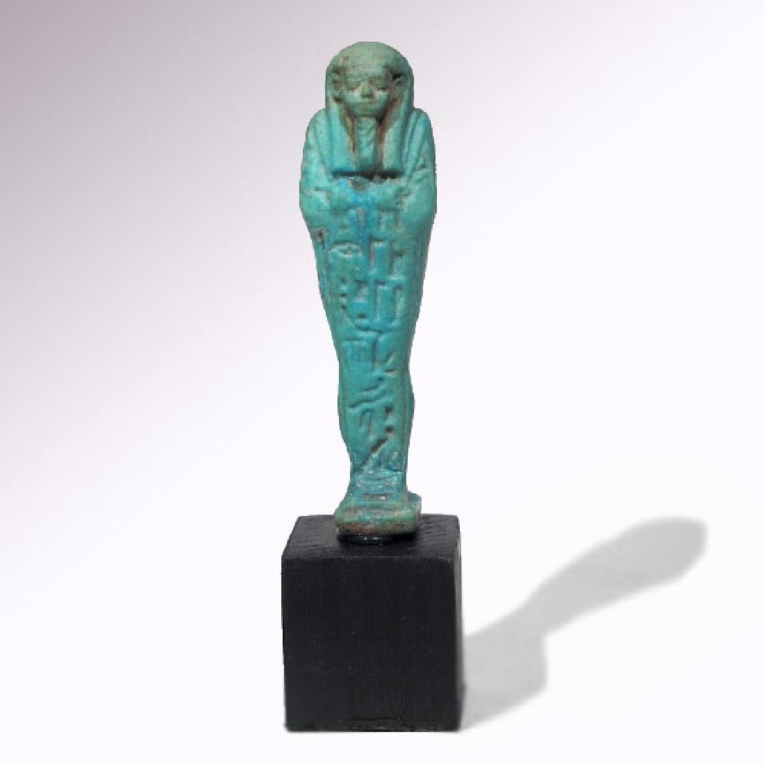 Egyptian Faience Shabti to Psametek, High Priest of - 4