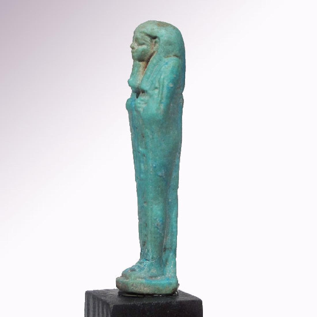 Egyptian Faience Shabti to Psametek, High Priest of - 5