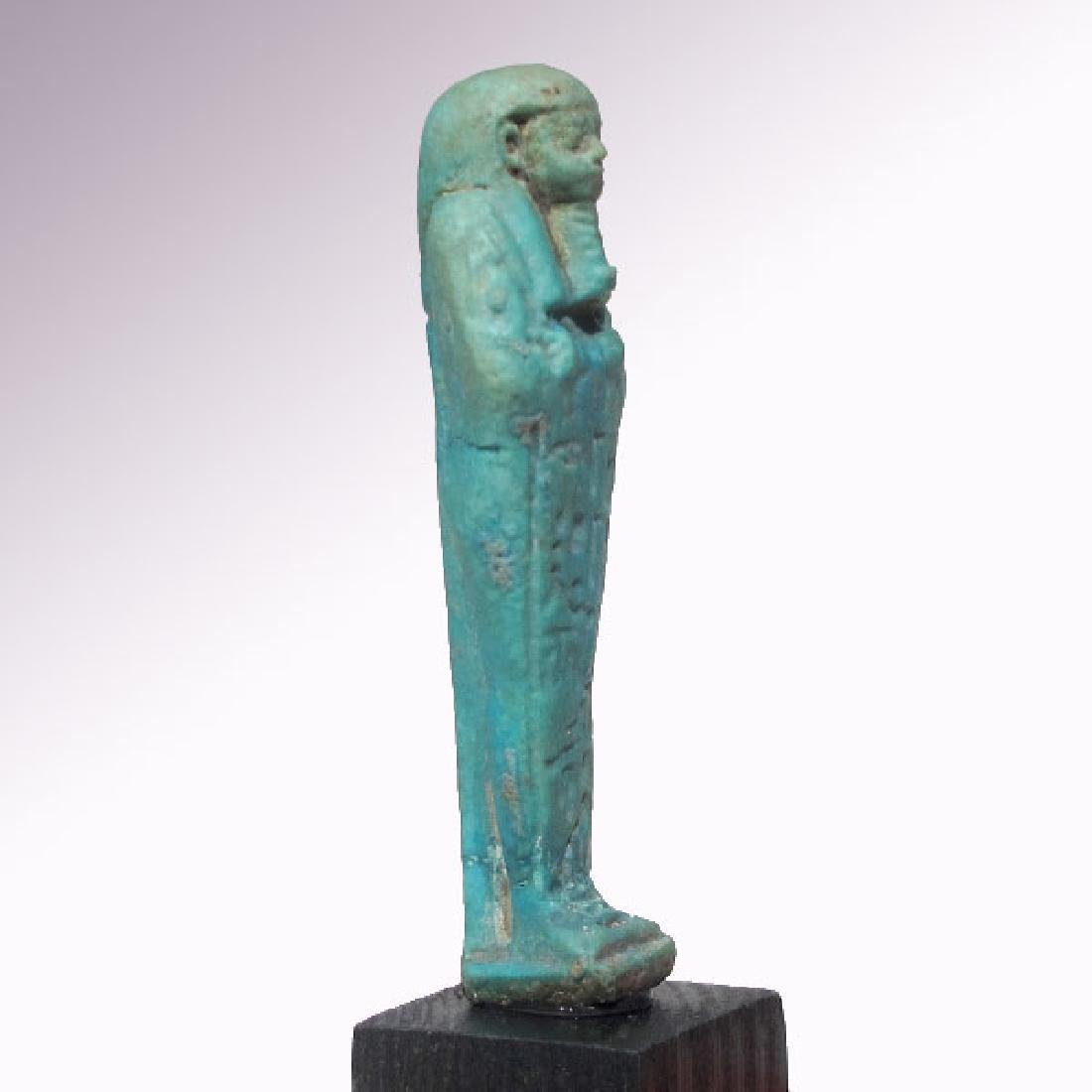 Egyptian Faience Shabti to Psametek, High Priest of - 6