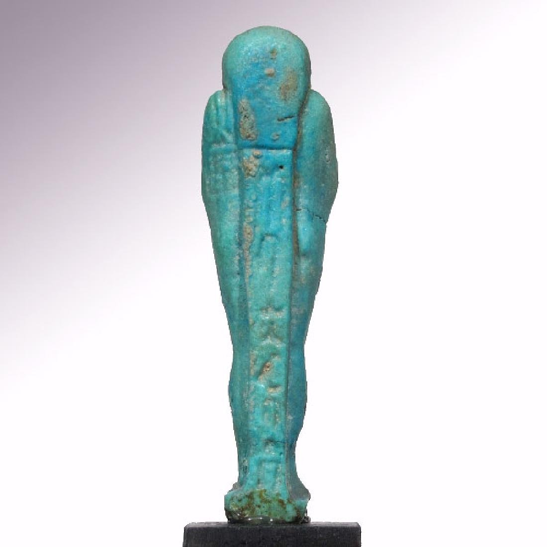 Egyptian Faience Shabti to Psametek, High Priest of - 7