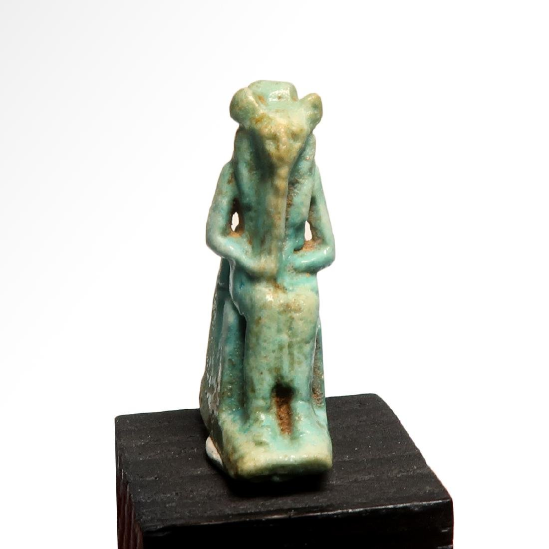 Egyptian Faience Amulet of the Lioness Deity Sekhmet,