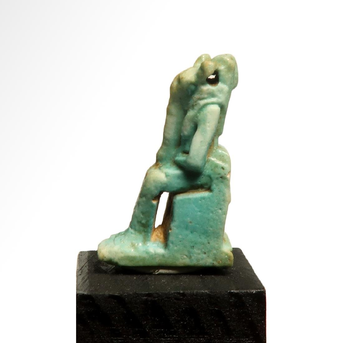 Egyptian Faience Amulet of the Lioness Deity Sekhmet, - 3
