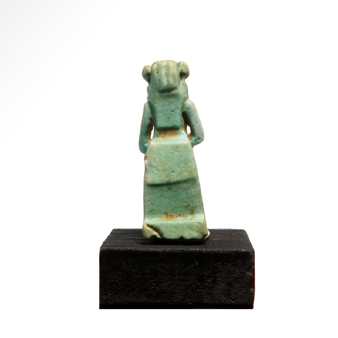 Egyptian Faience Amulet of the Lioness Deity Sekhmet, - 5