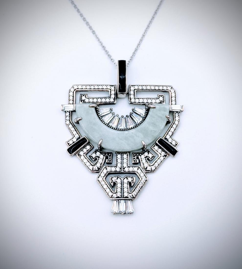 Sterling Silver Necklace and Imperial Designed Pendant