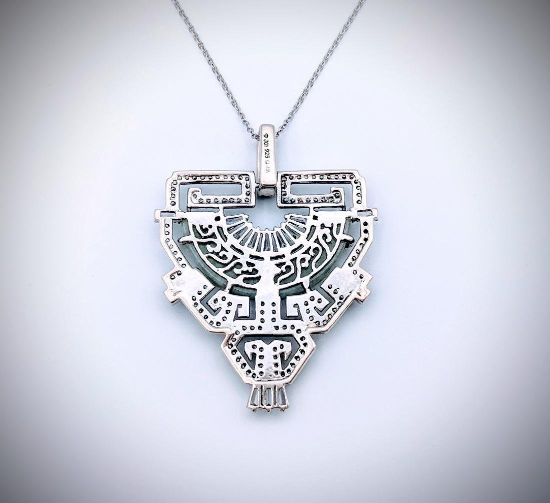 Sterling Silver Necklace and Imperial Designed Pendant - 2