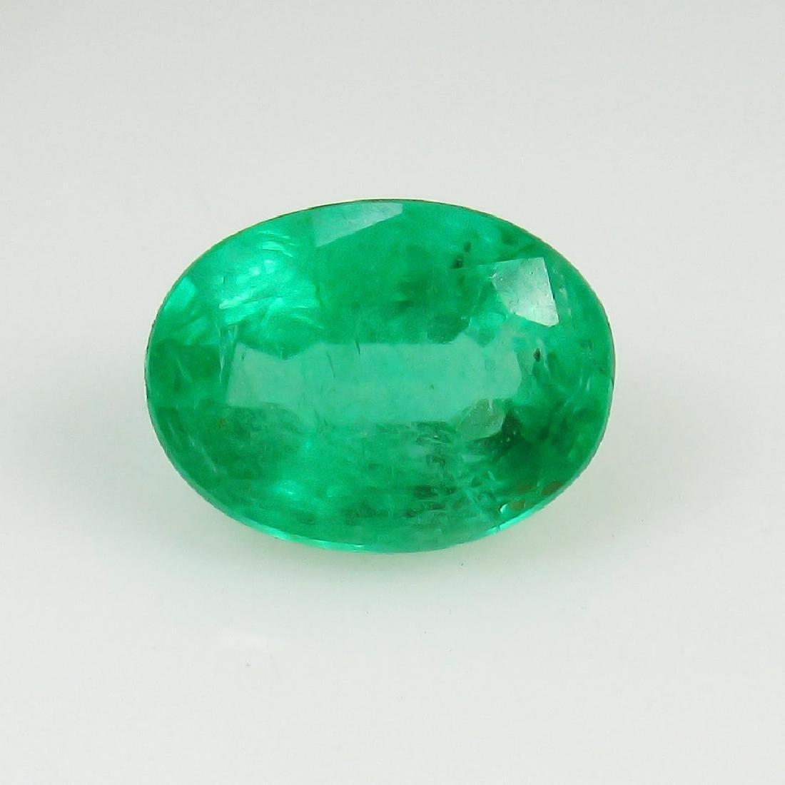 1.73 Ct Genuine Loose Zambian Emerald Nice Oval cut Top