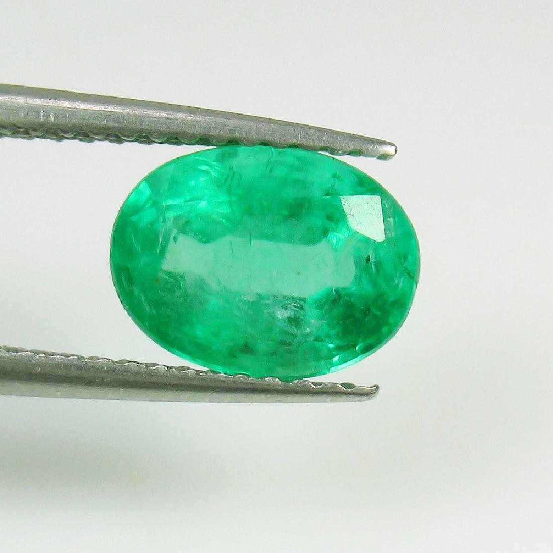 1.73 Ct Genuine Loose Zambian Emerald Nice Oval cut Top - 2