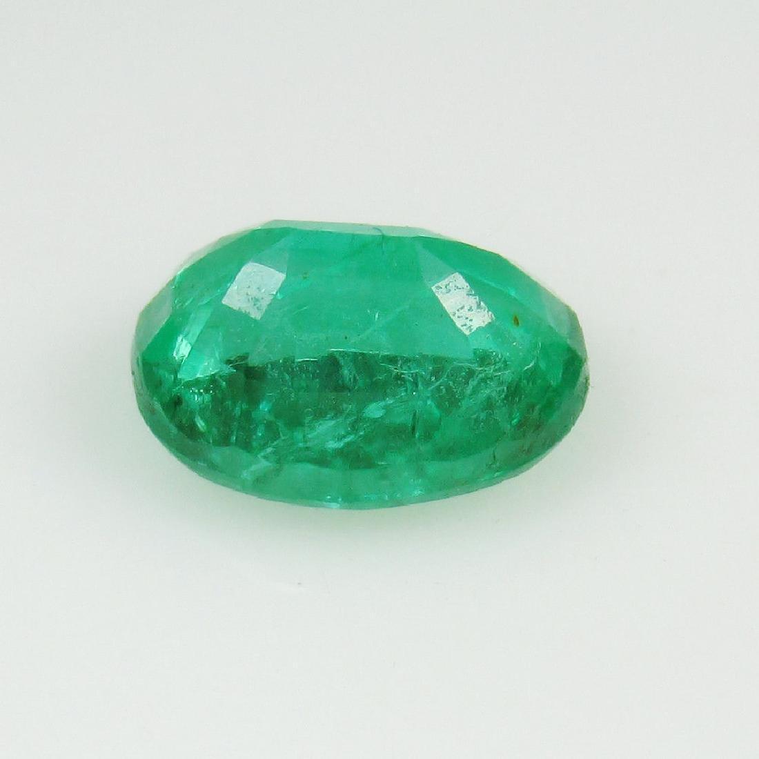 1.73 Ct Genuine Loose Zambian Emerald Nice Oval cut Top - 4