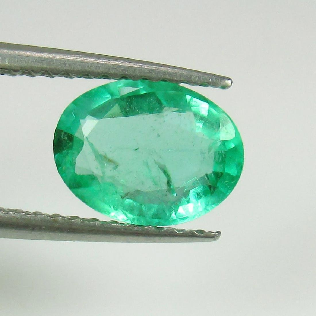 1.23 Ct Genuine Loose Zambian Emerald Nice Oval cut Top