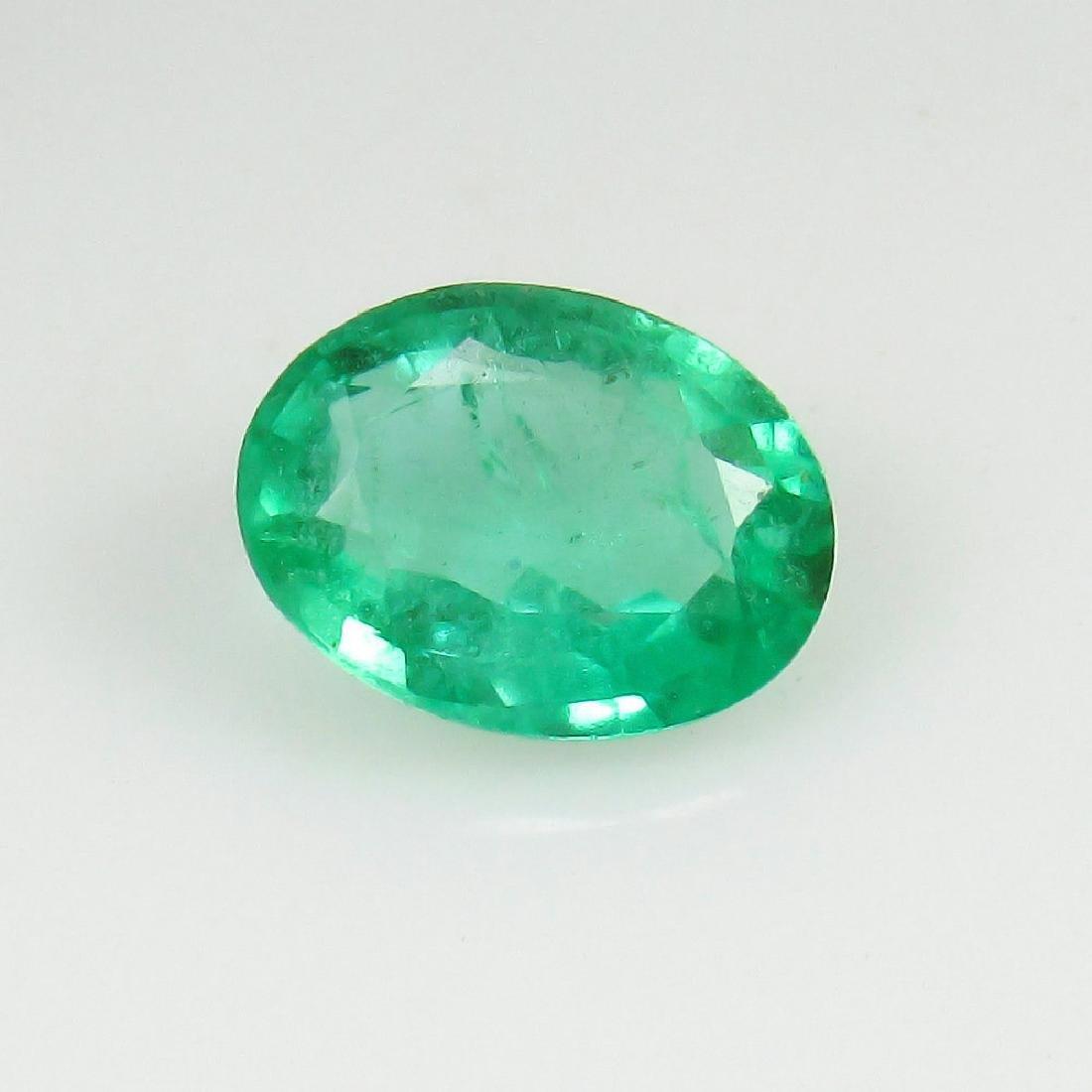 1.23 Ct Genuine Loose Zambian Emerald Nice Oval cut Top - 2