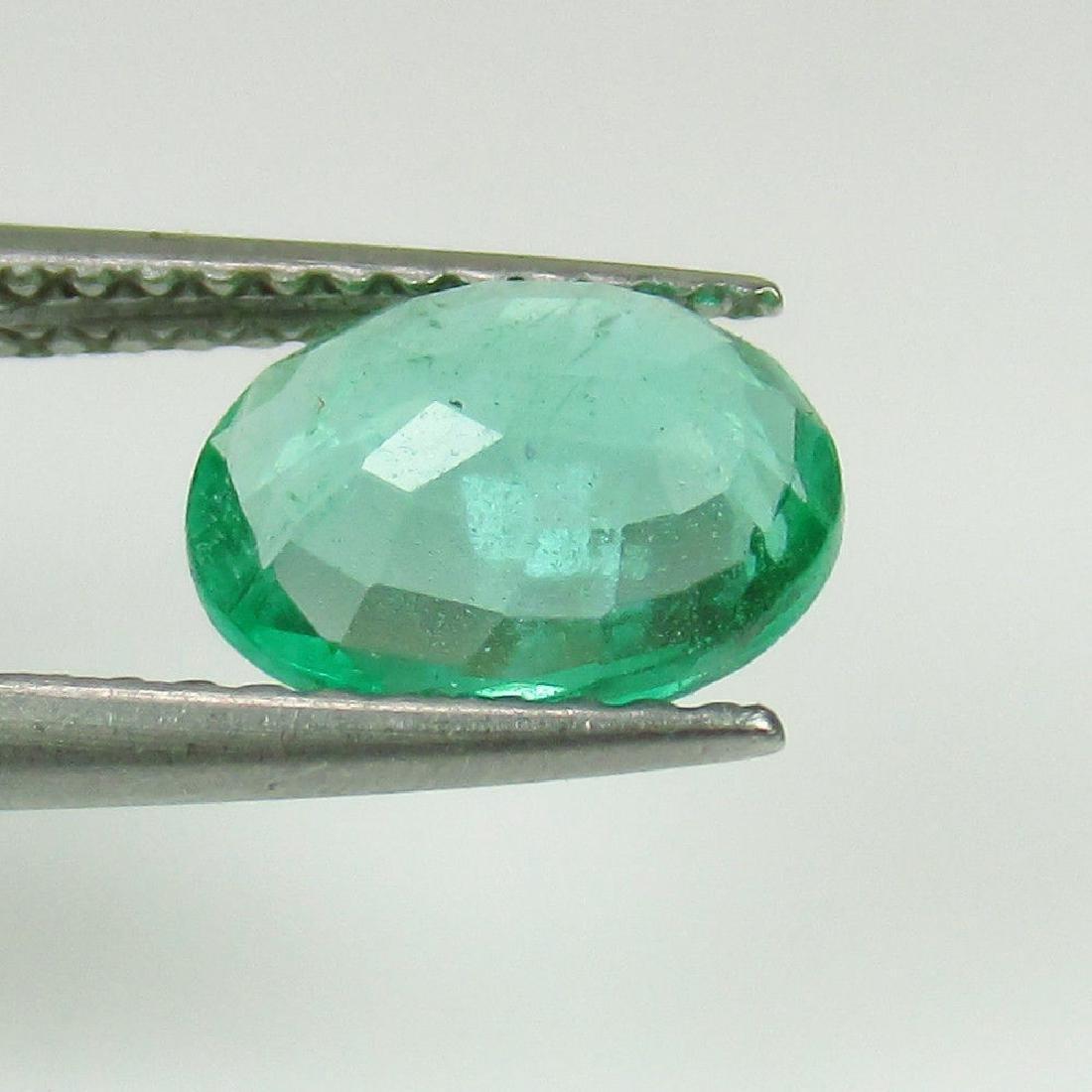 1.23 Ct Genuine Loose Zambian Emerald Nice Oval cut Top - 4