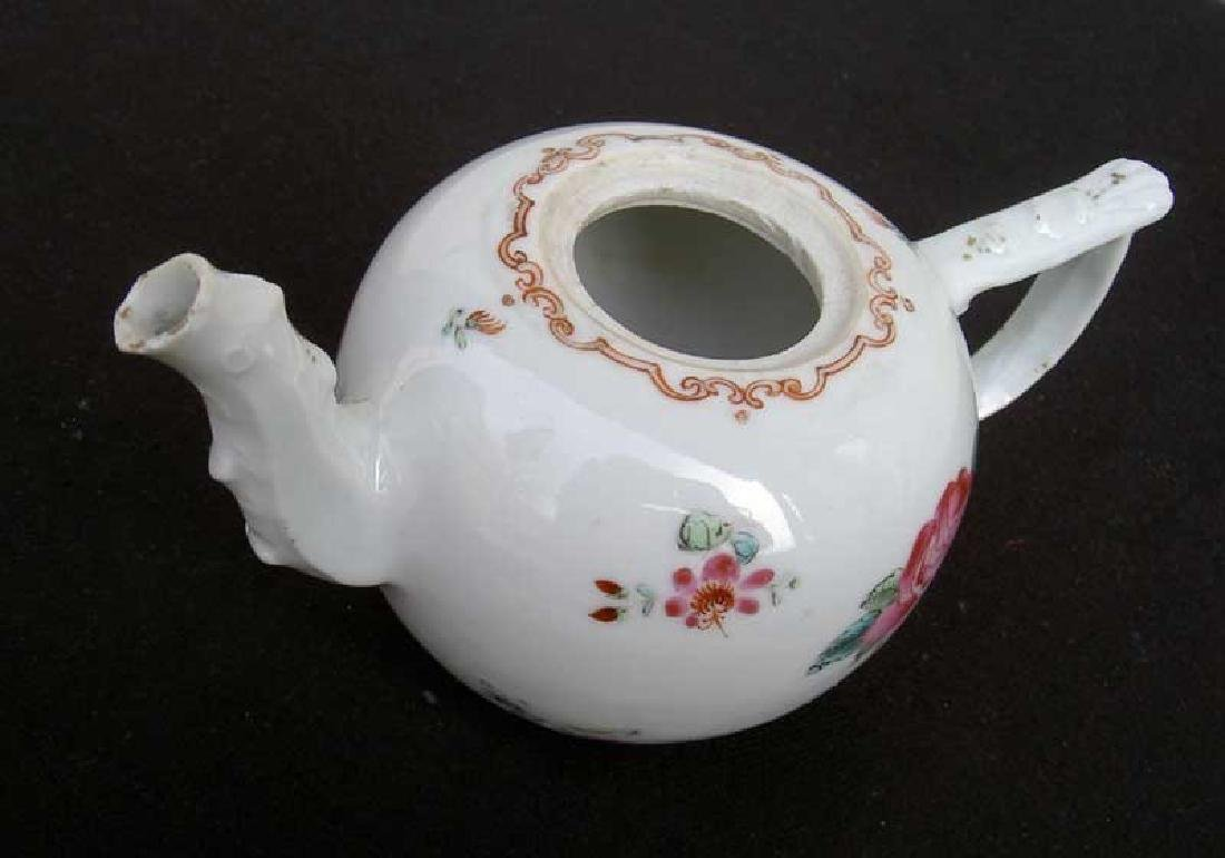 Chinese Export 18th century Famille Rose teapot - 3