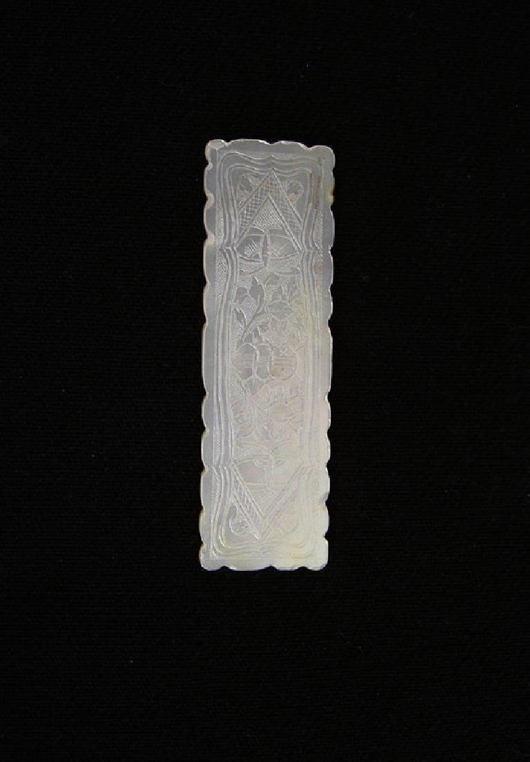 Chinese mother of pearl gaming counter, c 1800