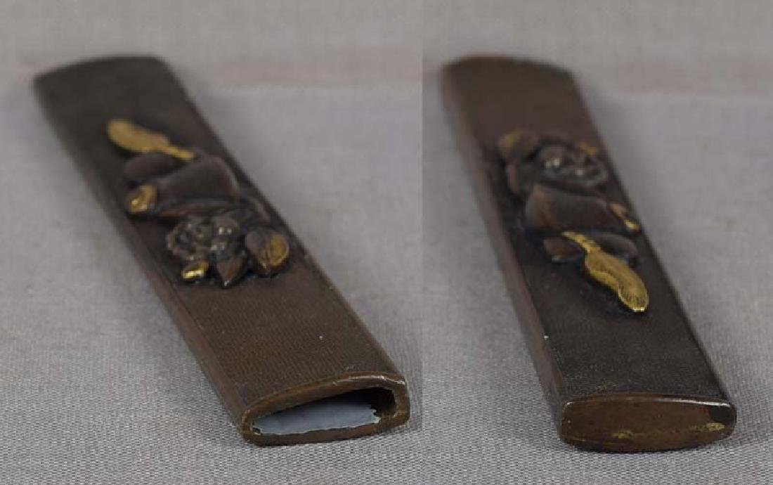 19c Japanese sword KOZUKA peony & TEA CEREMONY items - 4