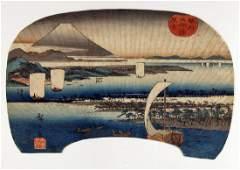 Ando Hiroshige First Edition Woodblock Miho Bay