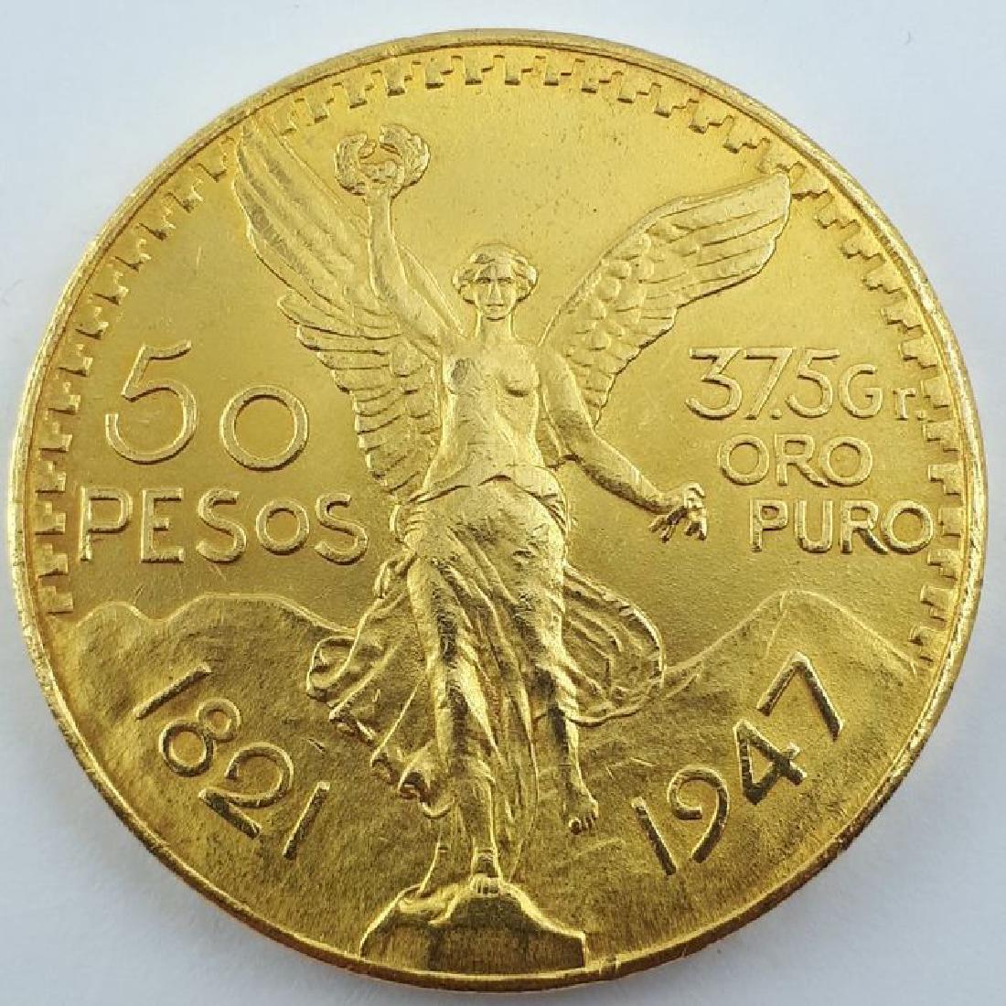 Mexico - 50 Pesos 1947 - Gold