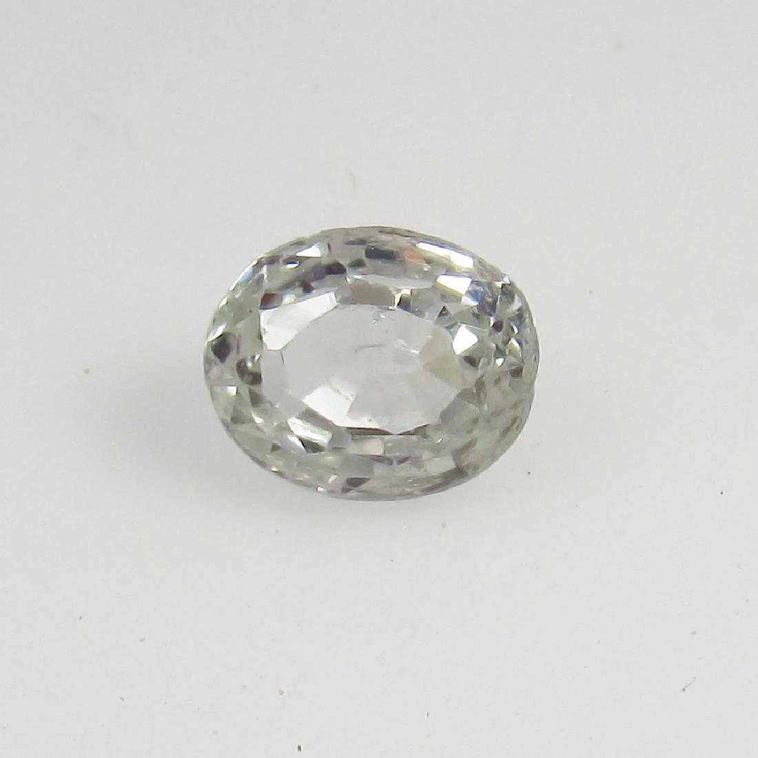 0.82 Ct Genuine Ceylon Unheated White Sapphire Nice