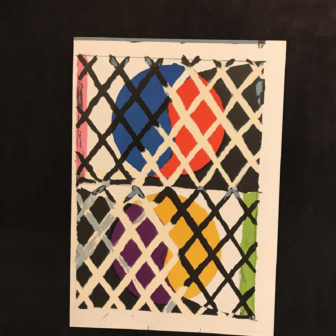 Alfred Jensen (after). Lithograph Puzzle 2