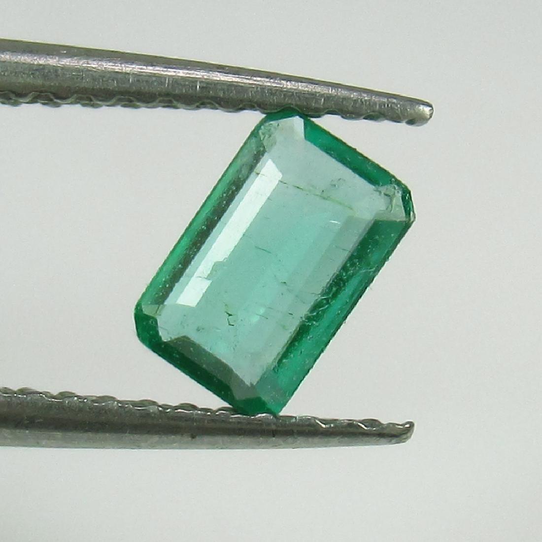 0.35 Ct Genuine Loose Zambian Emerald Octagon cut Good