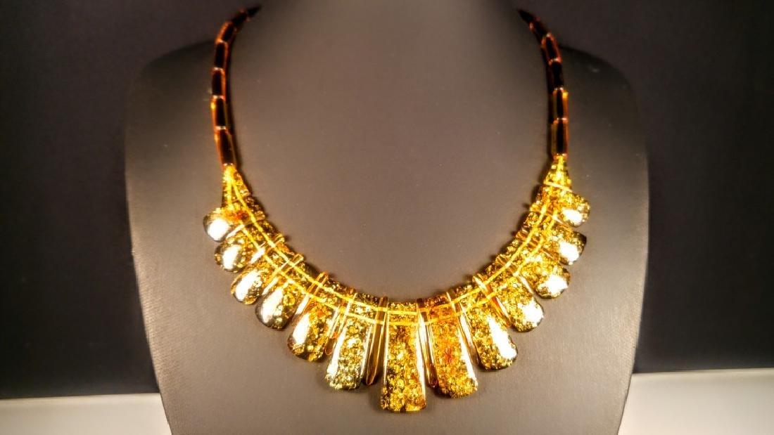 100% Genuine rare Green colour Baltic amber necklace