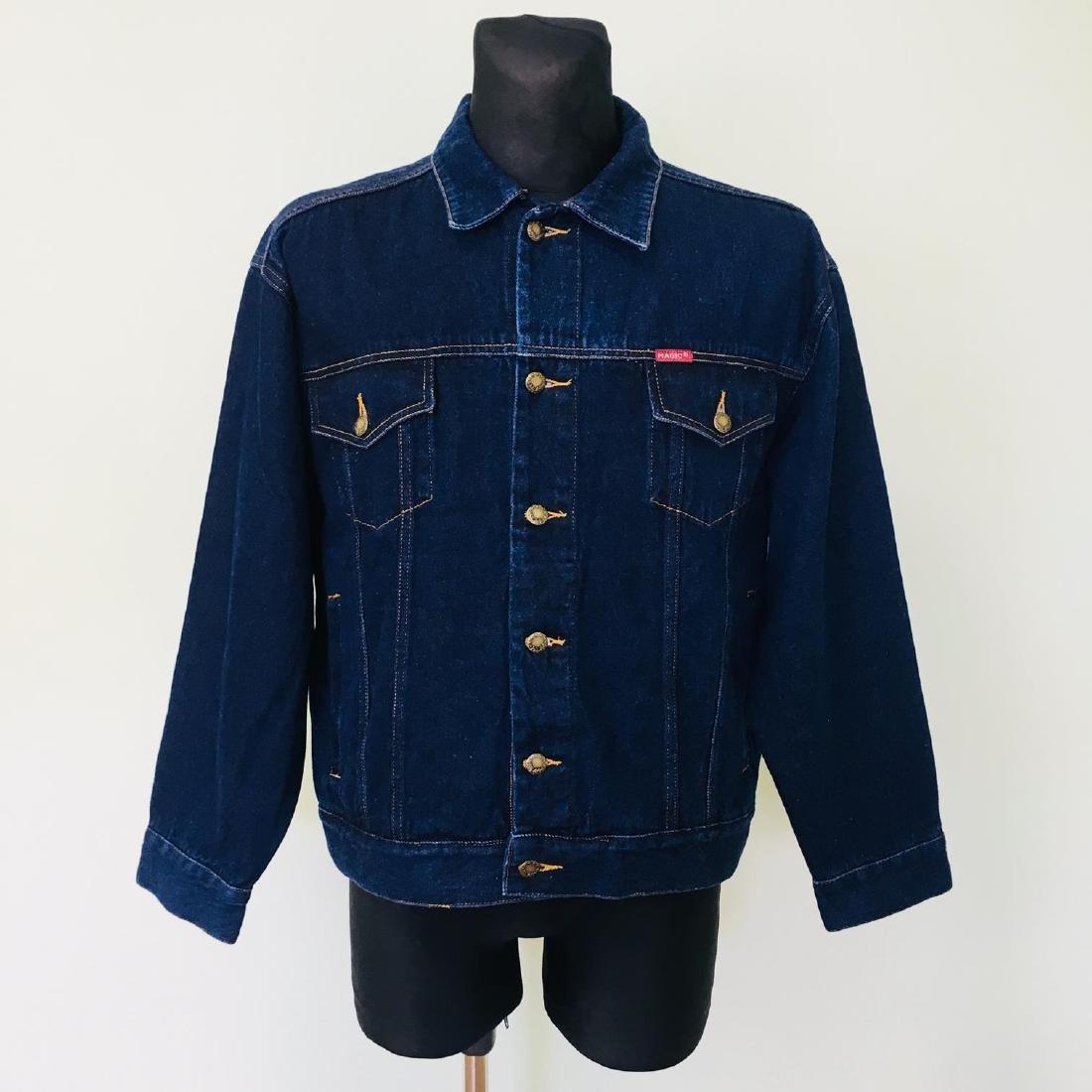 Vintage Men's Magic Jeans Designer Denim Jacket Size L