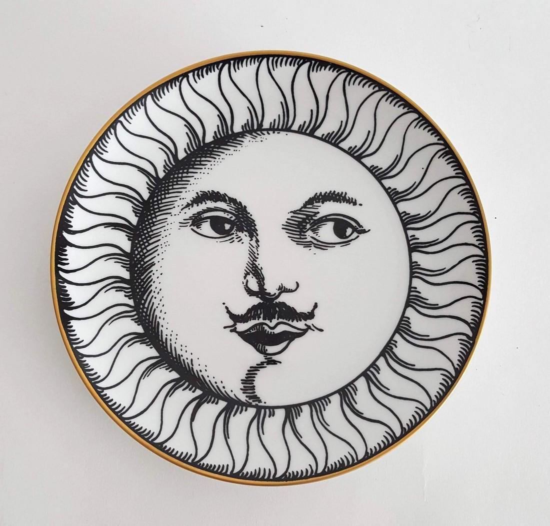 Fornasetti Soli E Lune Wall Porcelain Plate