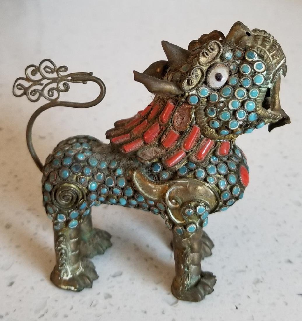Antique Enamel and Cloisonne Chinese Qilin