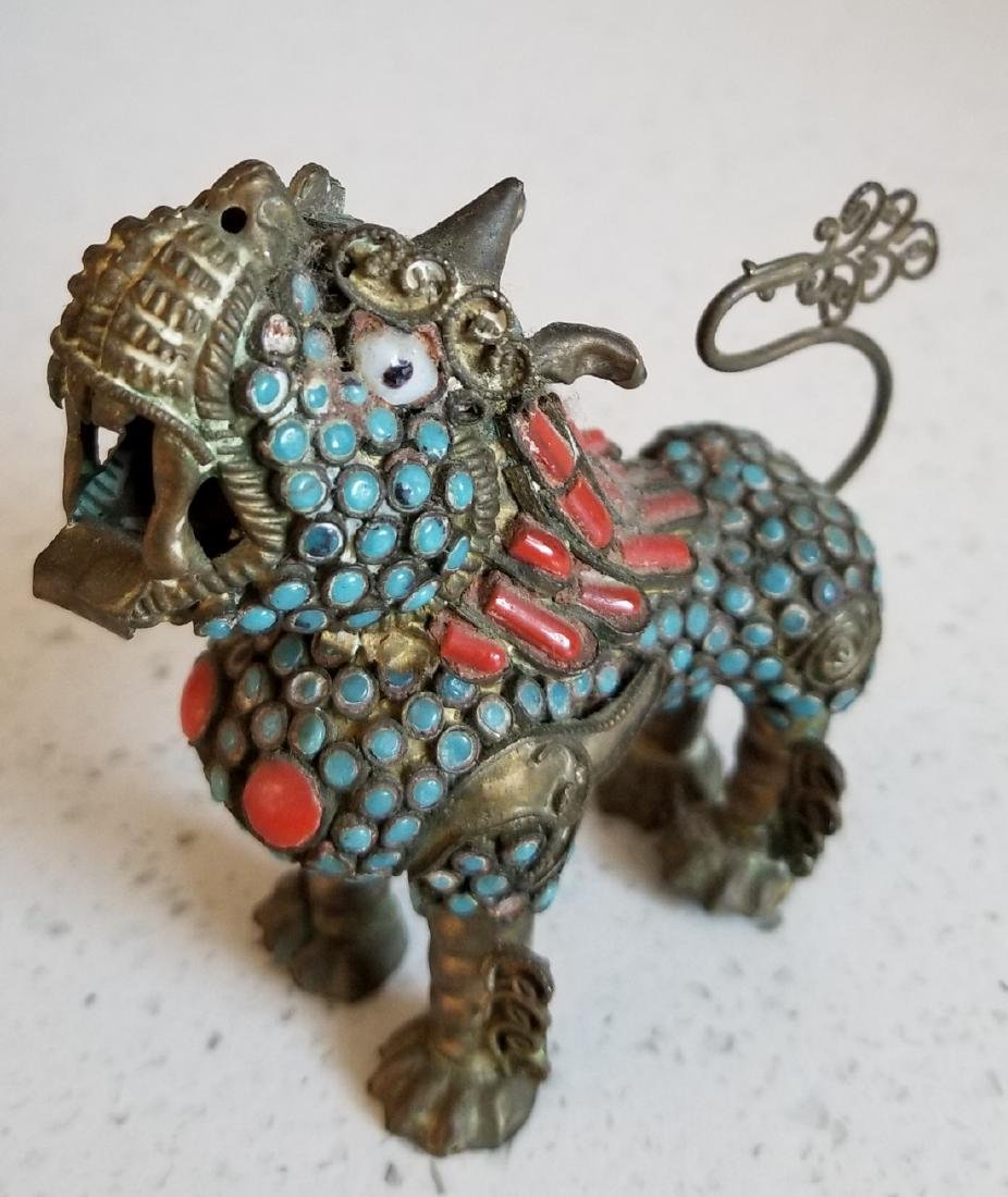 Antique Enamel and Cloisonne Chinese Qilin - 2