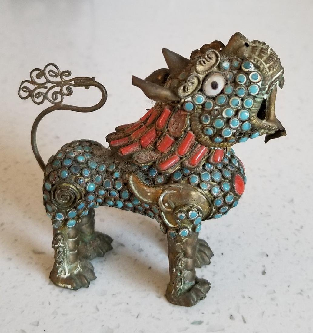 Antique Enamel and Cloisonne Chinese Qilin - 4