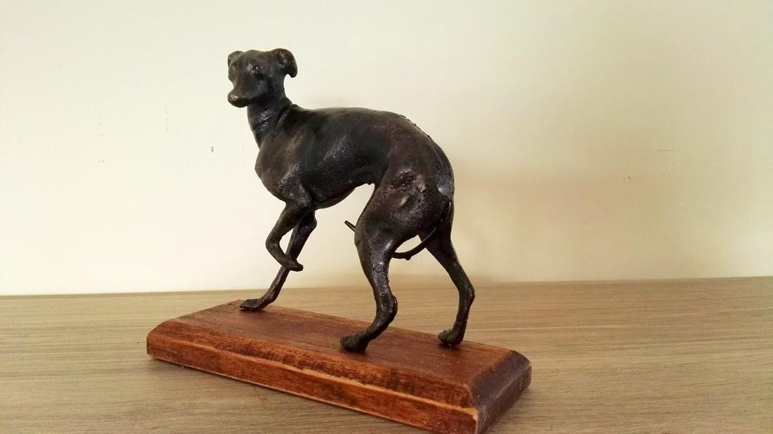 A couple of greyhounds - cast iron alloy - 4