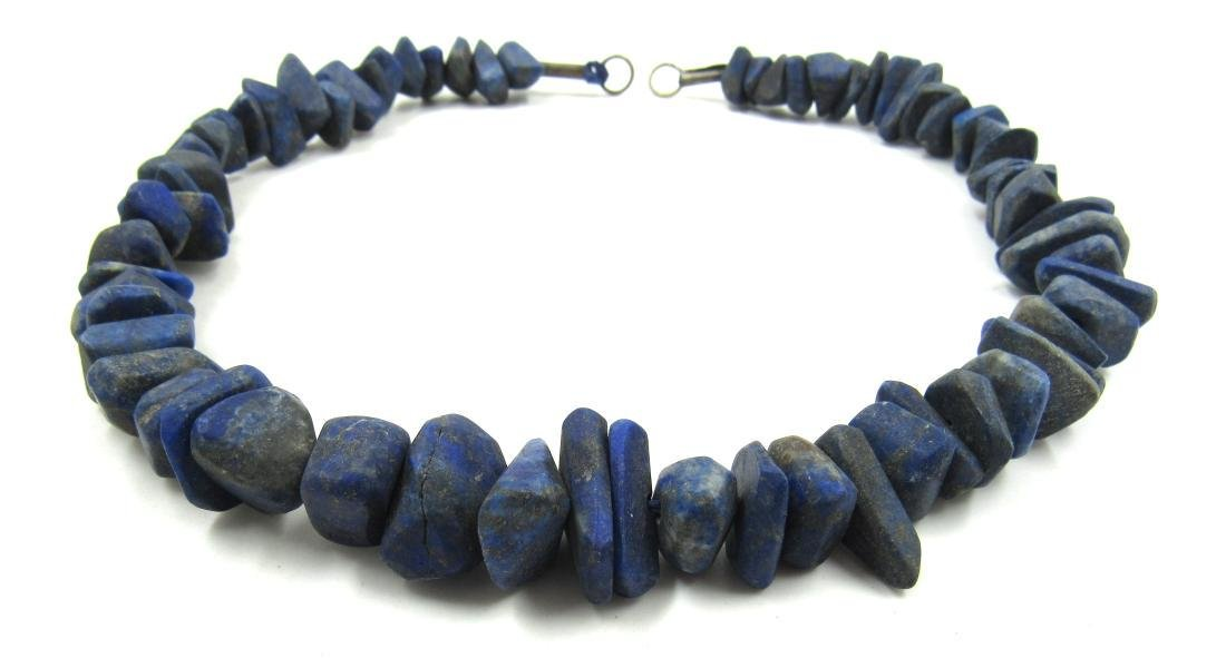 Ancient Roman Lapis Lazuli Beaded Necklace - 2