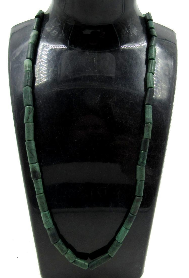 Ancient Roman Green Lapis Beaded Necklace