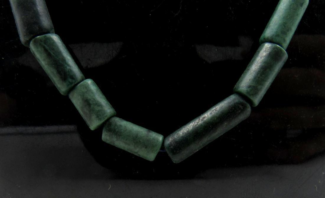 Ancient Roman Green Lapis Beaded Necklace - 2