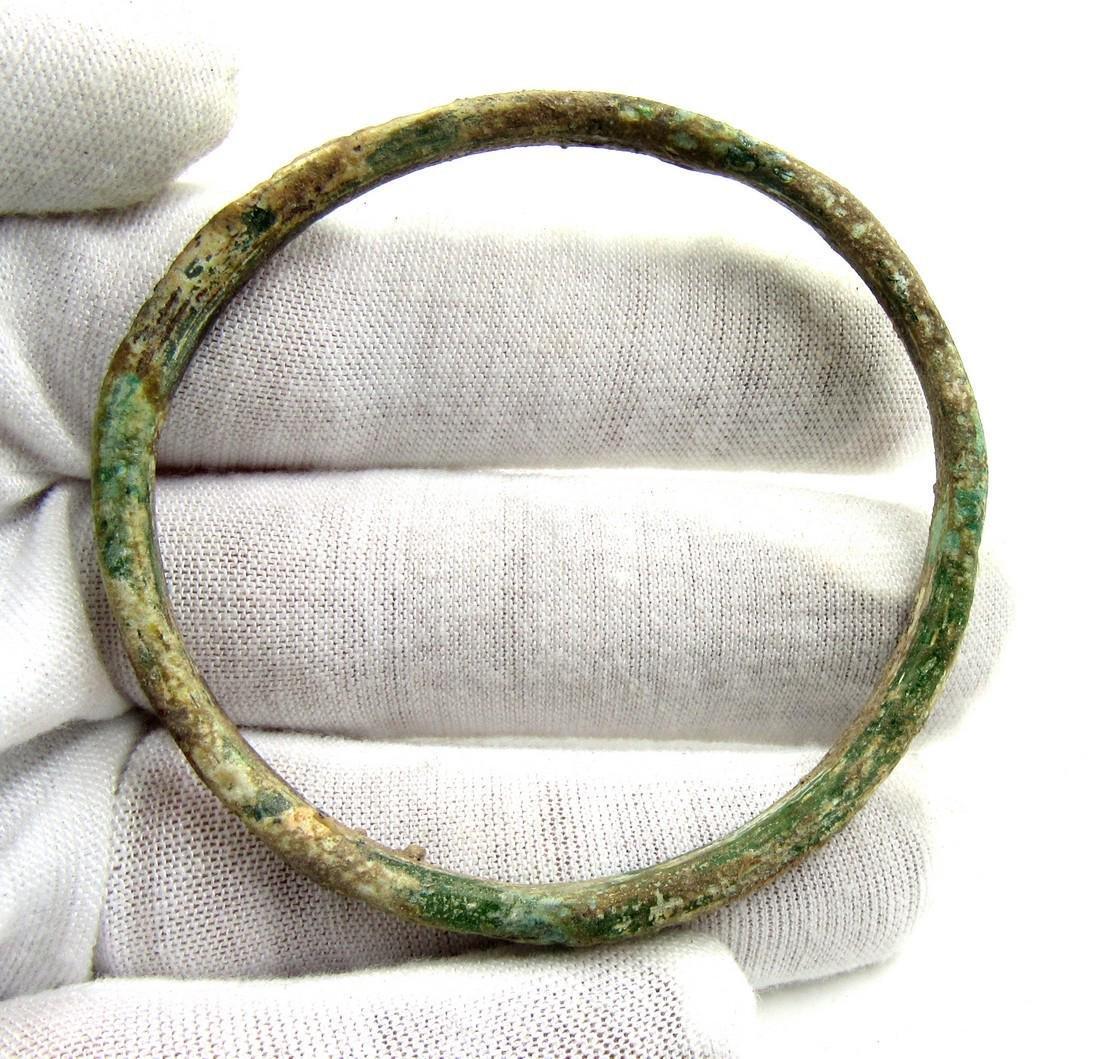 Ancient Byzantine Glass Decorated Bracelet - 3
