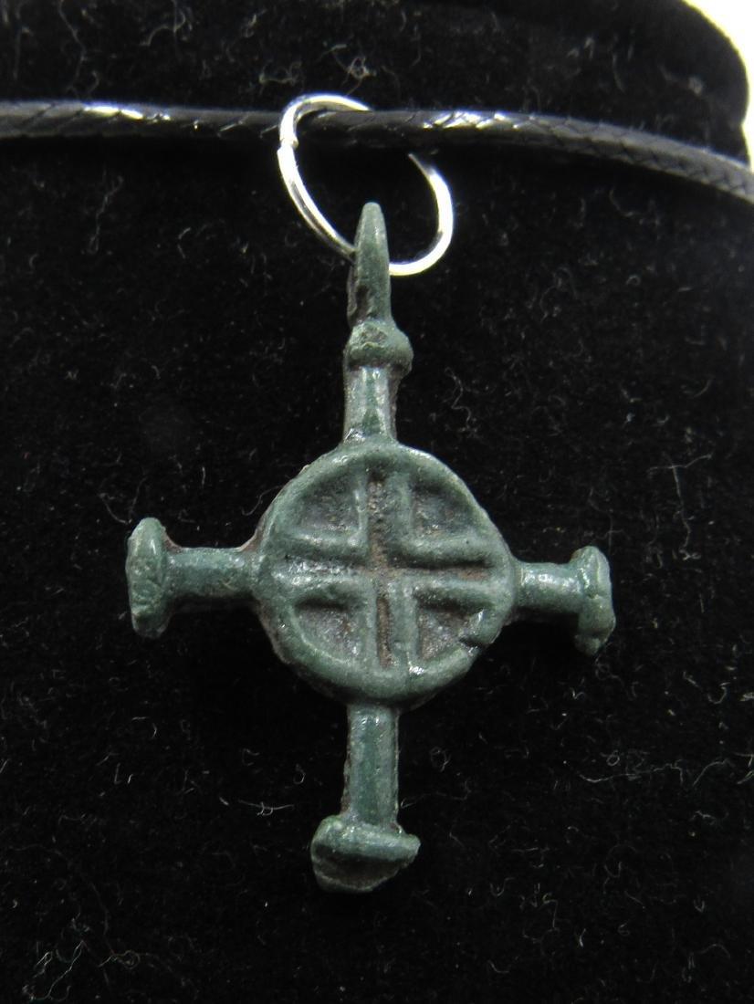 Medieval Viking Era Bronze Cross Pendant