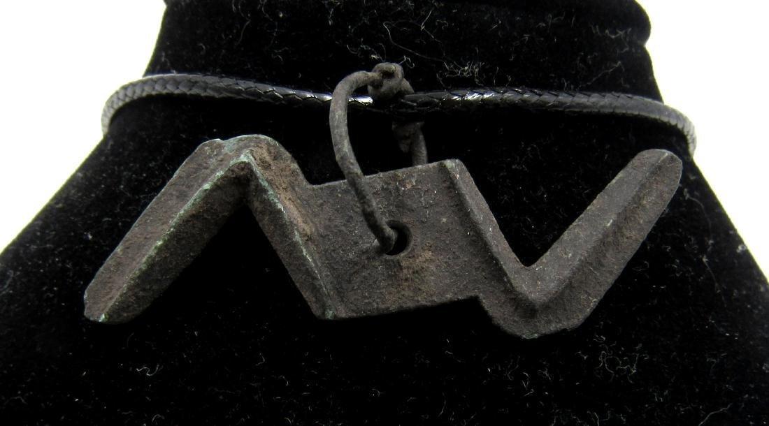 Medieval Viking Era Bronze Thunderbolt of God Thor - 2