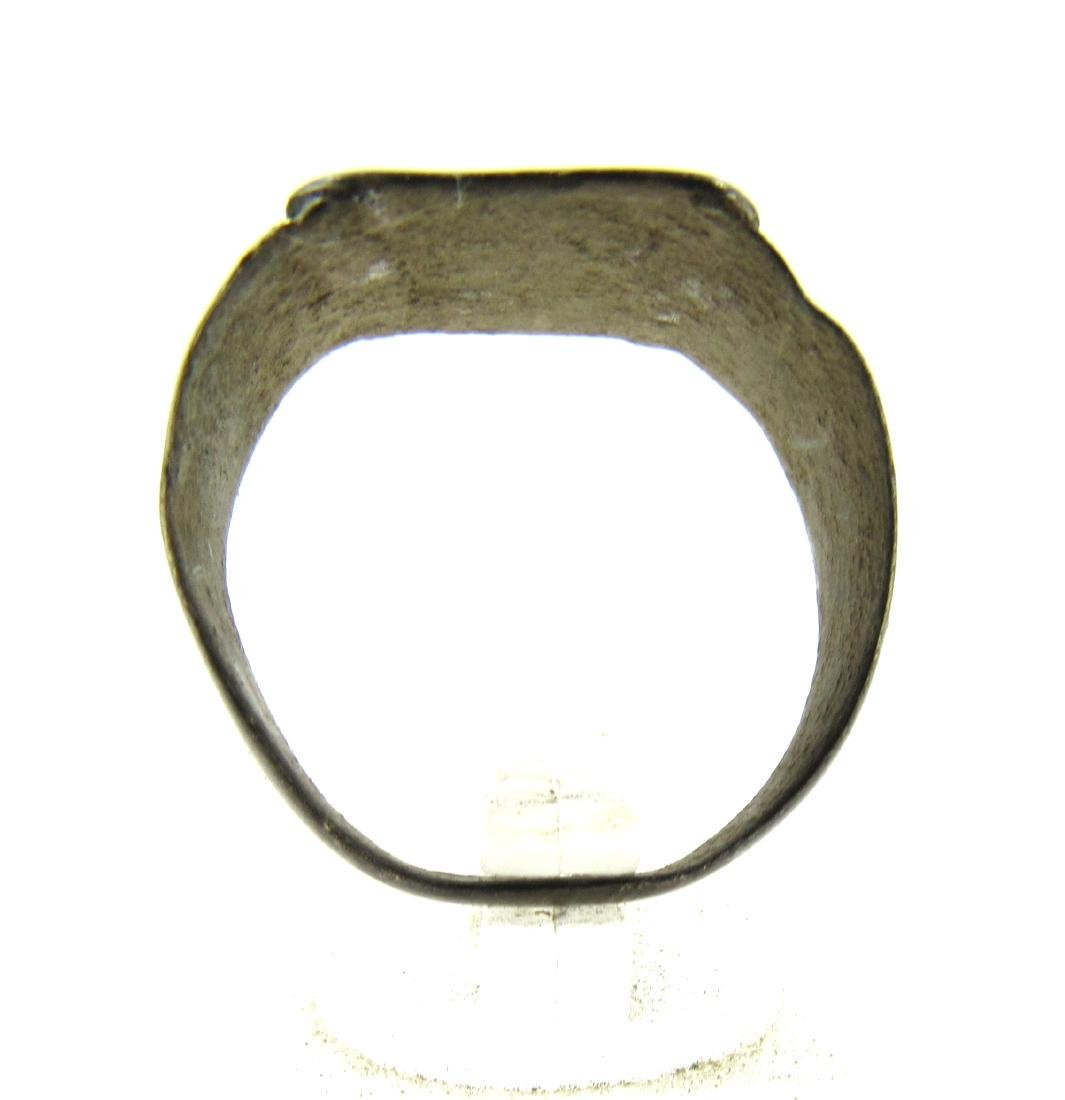 Medieval Crusaders Era Bronze Ring with Arabic Script - 4