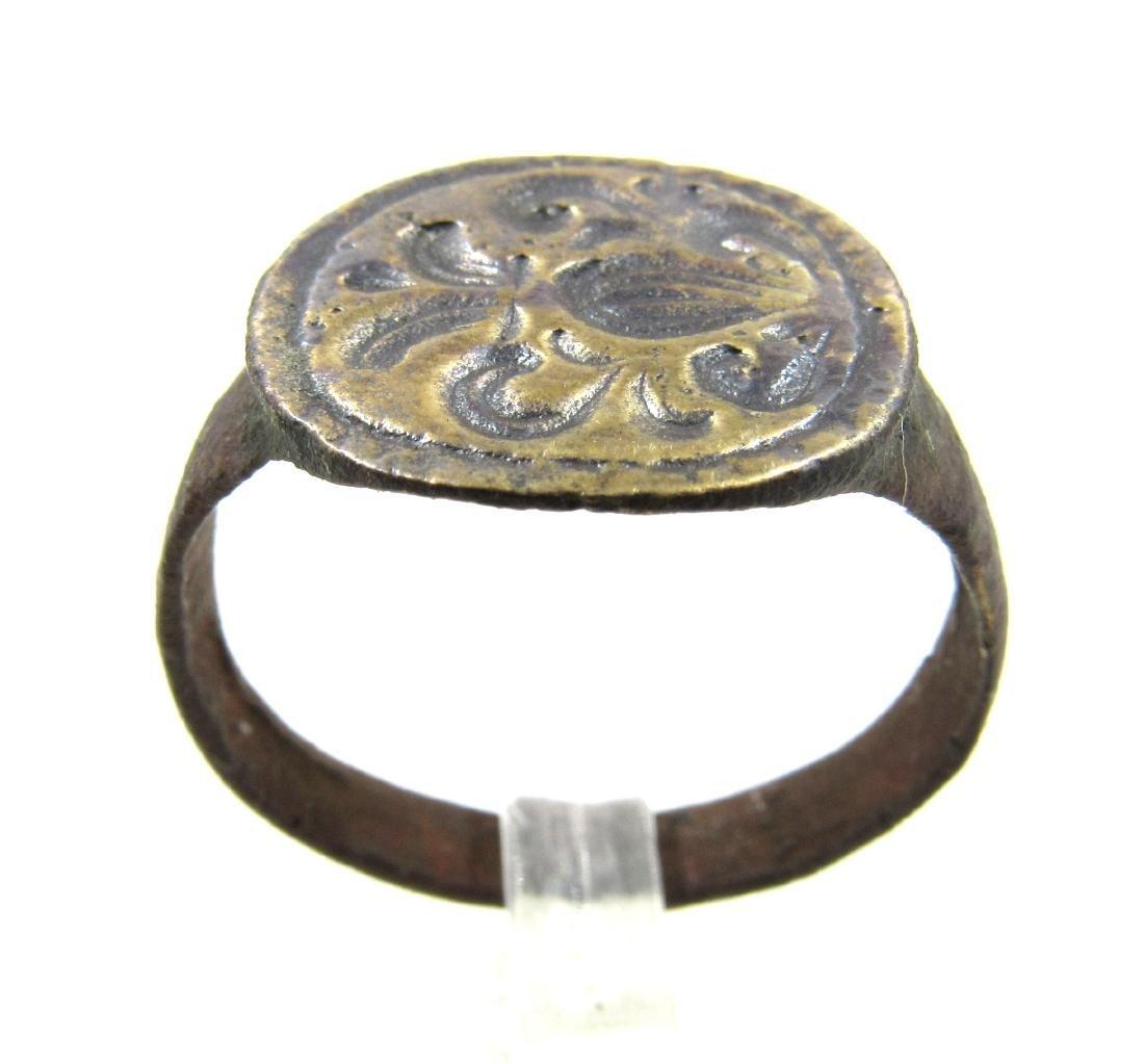 Medieval Crusaders Era Bronze Heraldic Ring with Family